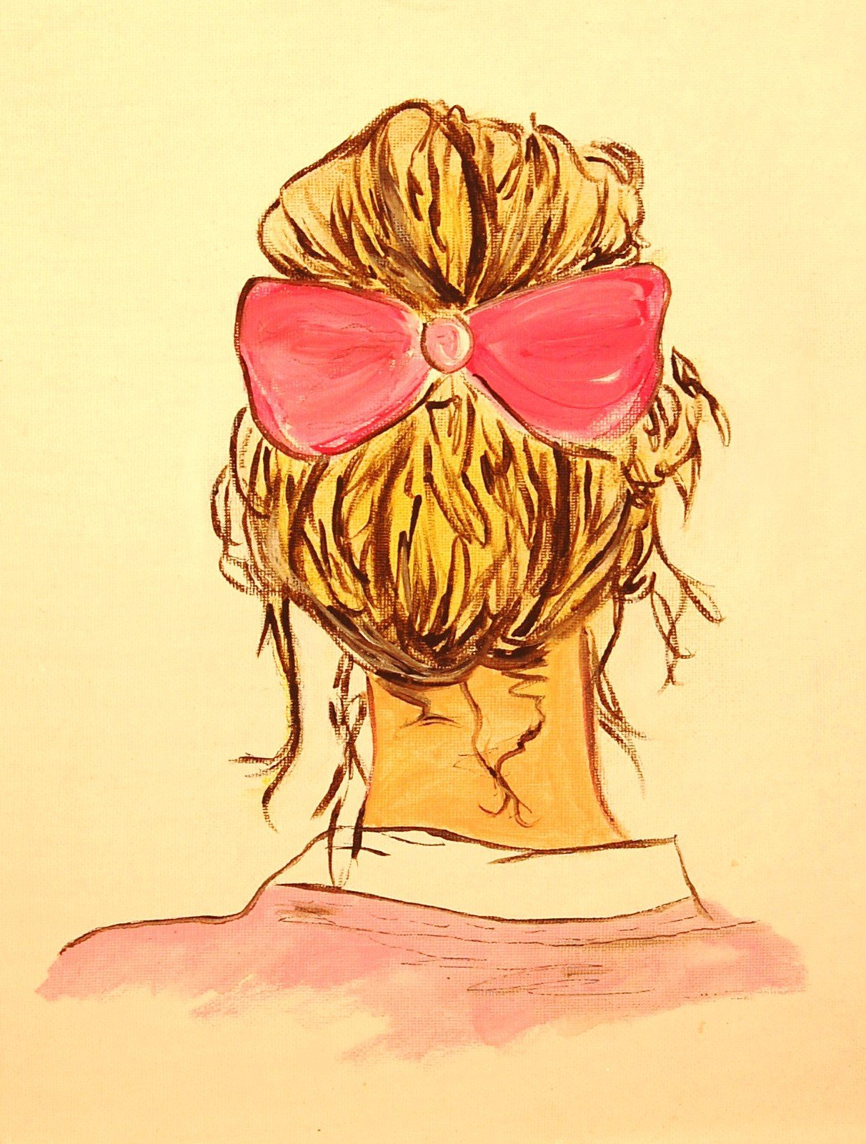 Girl with a pink bow