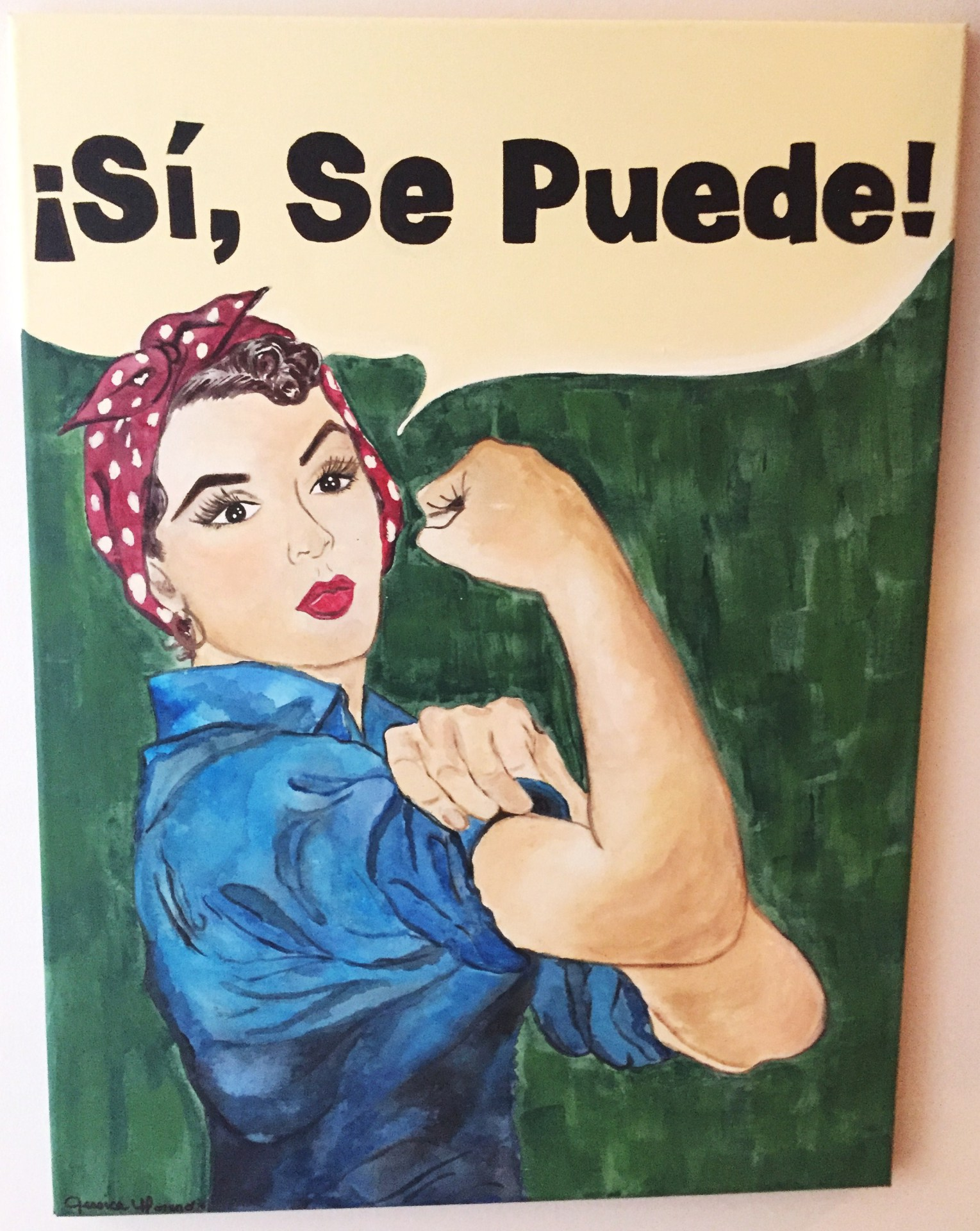 Latina Rosie the Riveter