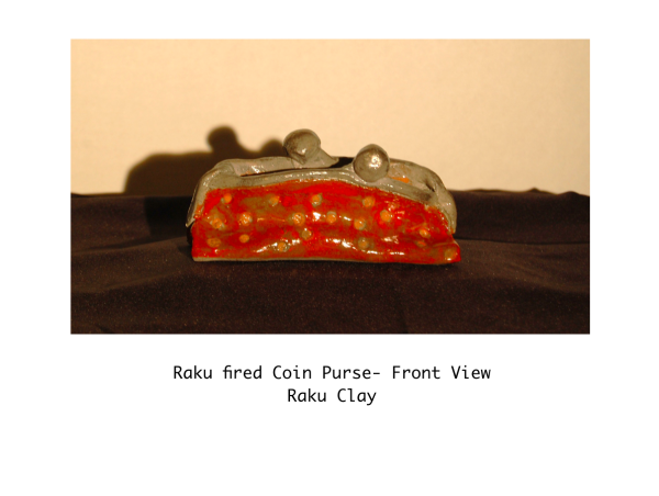 Raku fired Coin Purse