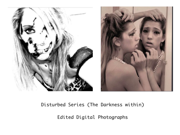 Disturbed Series (The Darkness within)  Edited Digital Photograph